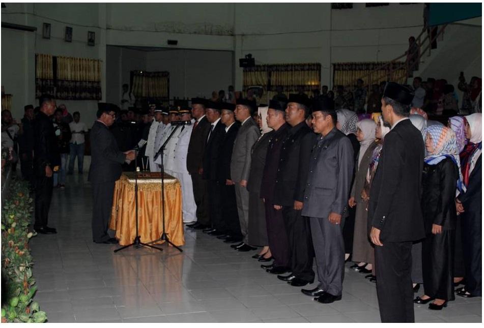 Pelantikan Pejabat Pimpinan Tinggi Pratama, Administrator, Pengawas dan Fungsional Tertentu Lingkup Pemerintah Kabupaten Pinrang